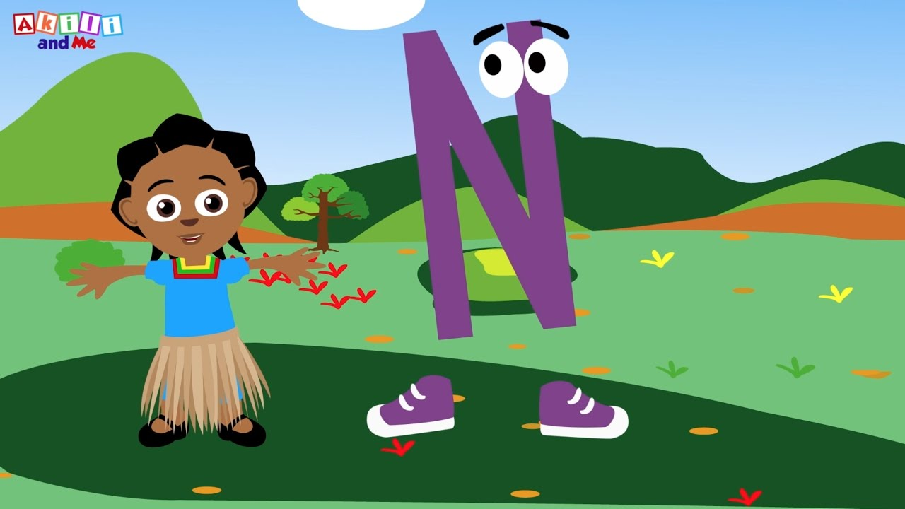 The Letter N Song | Educational phonics song from Akili and Me, the African Edu-Cartoon Eng