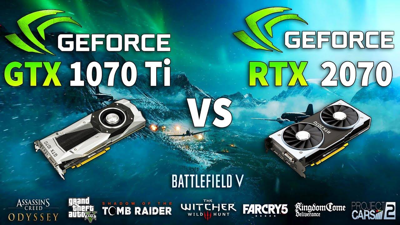 RTX 2070 vs GTX 1070 Ti Test in 8 Games 1440p