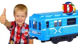 Метро мультик для детей Метро поезд и Железнодорожный транспорт Learn colors with numbers.