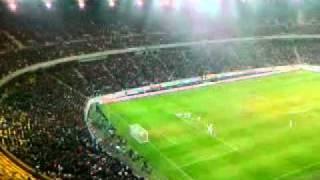 reactia spectatorilor gol rusescu steaua aek larnaca 3 1 14 12 2011 euro league