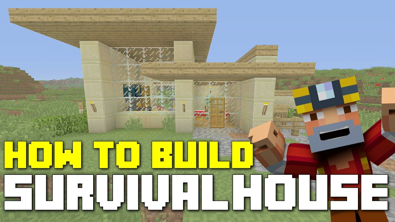 minecraft xbox 360/one: how to build - survival house! (simple