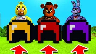 Minecraft PE : DO NOT CHOOSE THE WRONG HELMET! (Chica, Freedy & Bonnie)