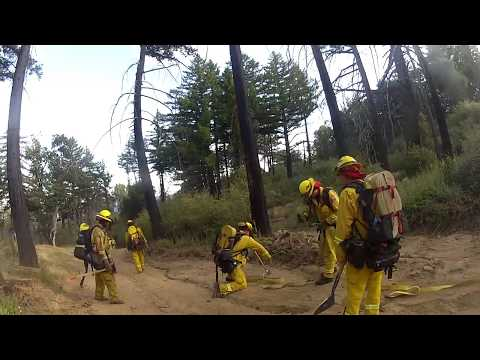 Mountain Hose Lay 4000 feet to Fire   California Wildfire Fire 2017 Part 4
