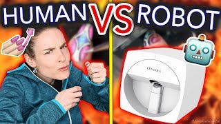Human VS Robot: Who Can Do Nail Art Better? (ultimate battle)