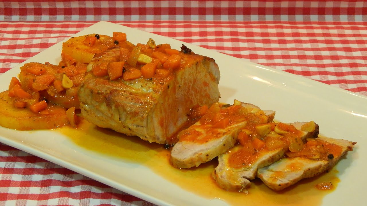 Genial cocinar lomo de cerdo al horno galer a de im genes - Como preparar un solomillo de cerdo al horno ...