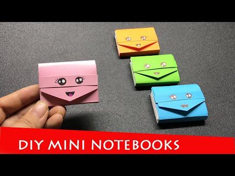 DIY MINI NOTEBOOKS ONE SHEET OF PAPER - Mini A4 Notebooks - DIY BACK TO SCHOOL - Paper Craft Ideas