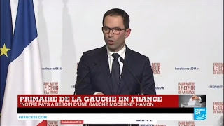 REPLAY - Discours de Benoît Hamon, net vainqueur de la Primaire de la gauche
