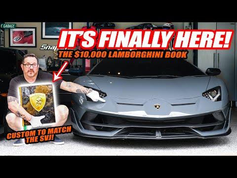 IT'S FINALLY HERE! Randy's $10,000 Custom Lamborghini Book! (it matches the Aventador SVJ spec!)