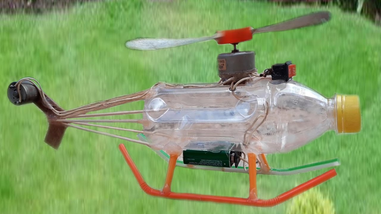 How To Make An Electric Helicopter Motor Very Simple Hand