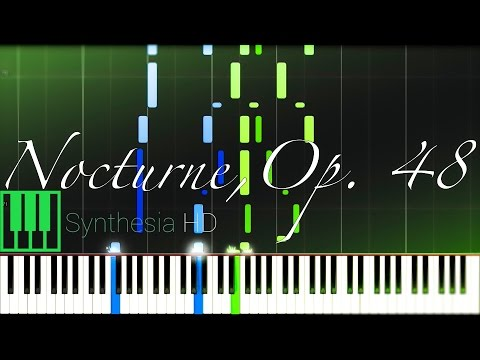 Nocturne in F# minor Op. 48, No. 2 // CHOPIN [Piano Tutorial] (Synthesia)