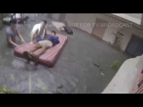 Super Typhoon Yolanda / Haiyan Hits Tacloban Philippines Raw Footage
