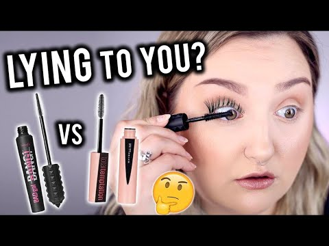 ARE YOU BEING LIED TO? | BENEFIT BADGAL BANG MASCARA VS MAYBELLINE TOTAL TEMPTATION REVIEW