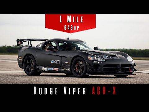 Brutal Viper SRT10 ACR-X Tackles The Standing Mile