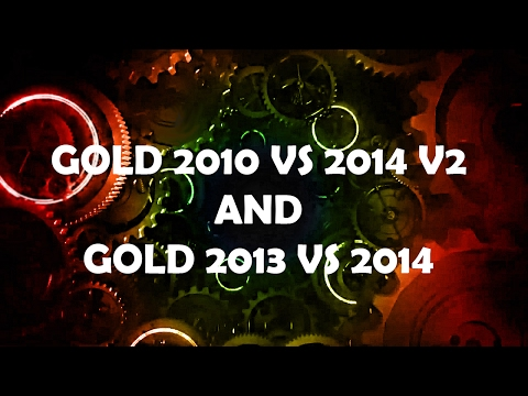 Doctor Who Gold 2010 VS Gold 2014 V2 AND Gold 2013 VS Gold 2014 Theme Remixes