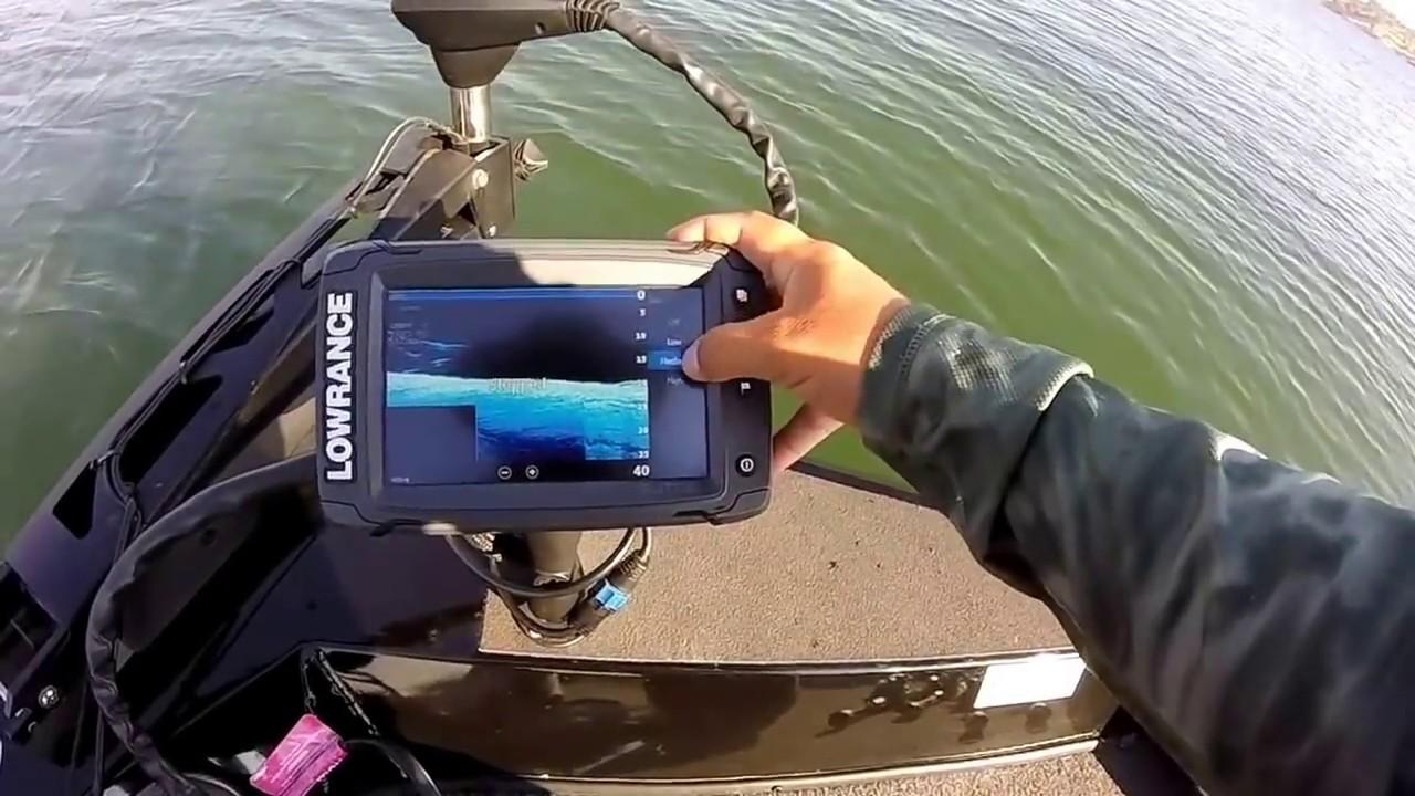 Lowrance Elite 7 Ti Dropshot Settings On The Water Youtube