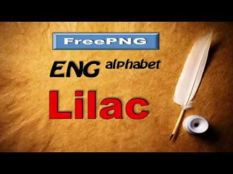 PNG-images  ENG alphabet Lilac / Англ алфавит Сирень + Free Download