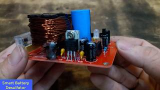 Smart Battery Desulfator | Simplest ATtiny13 Circuit | Simple Battery Desulfator Circuit