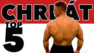 5 najlepších cvikov na chrbát. Cviky a tréning na objem chrbta.