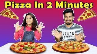 Pizza Making in 2 Minutes  Easy Pizza Recipe  इज पज़ज़ रसप बय पर