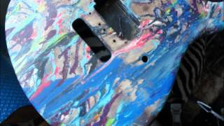 Swirl-paint Peavey Patriot Guitar Project - by Spaceman K. Nate