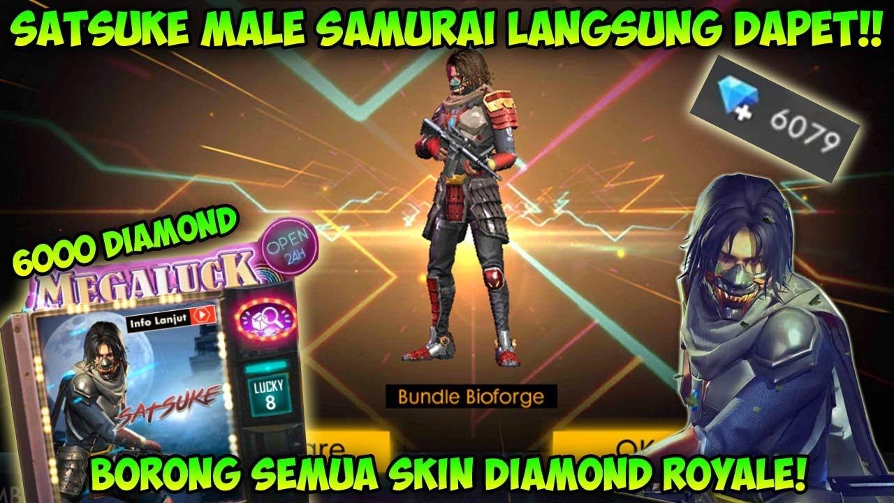 Hoki Langsung Dapet Borong Skin Satsuke Male Samurai Garena Free Fire Youtube