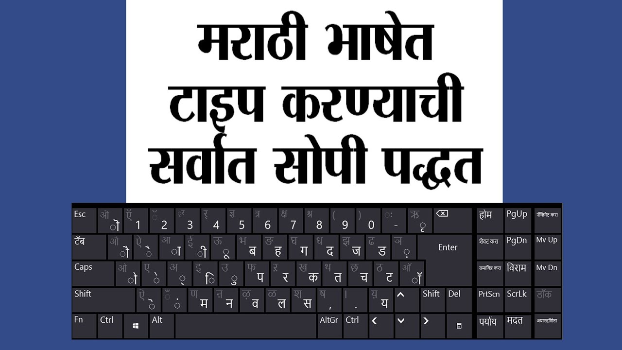 Simplest way of marathi typing youtube also rh