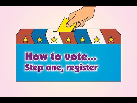 How to vote... Step one, register