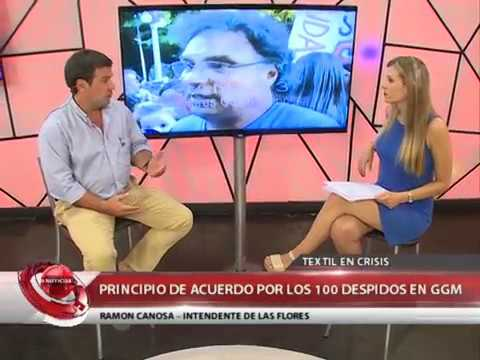 LAS FLORES  PRINCIPIO DE ACUERDO EN LA TEXTIL GGMRAL -  INTENDENTE RAMÓN CANOSA