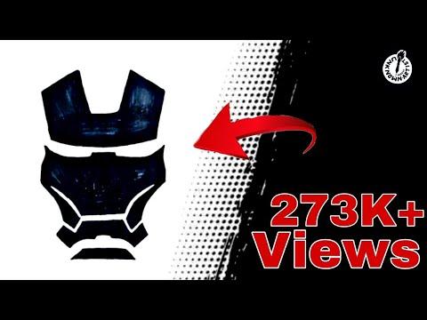IRON MAN Logo Drawing!! How to draw Iron man Mask Mark 85