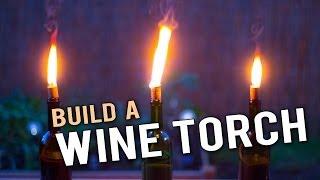 Build a Wine Bottle Tiki Torch