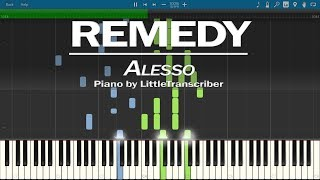 Alesso - REMEDY (Piano Cover) Synthesia Tutorial by LittleTranscriber