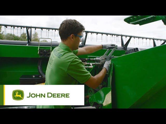Zmiana rodzaju uprawy w kombajnach John Deere serii T, W