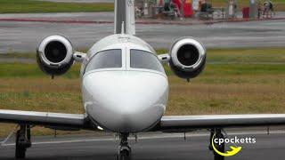 cessna citation mustang f haha difficult landing close ups take off gloucestershire airport