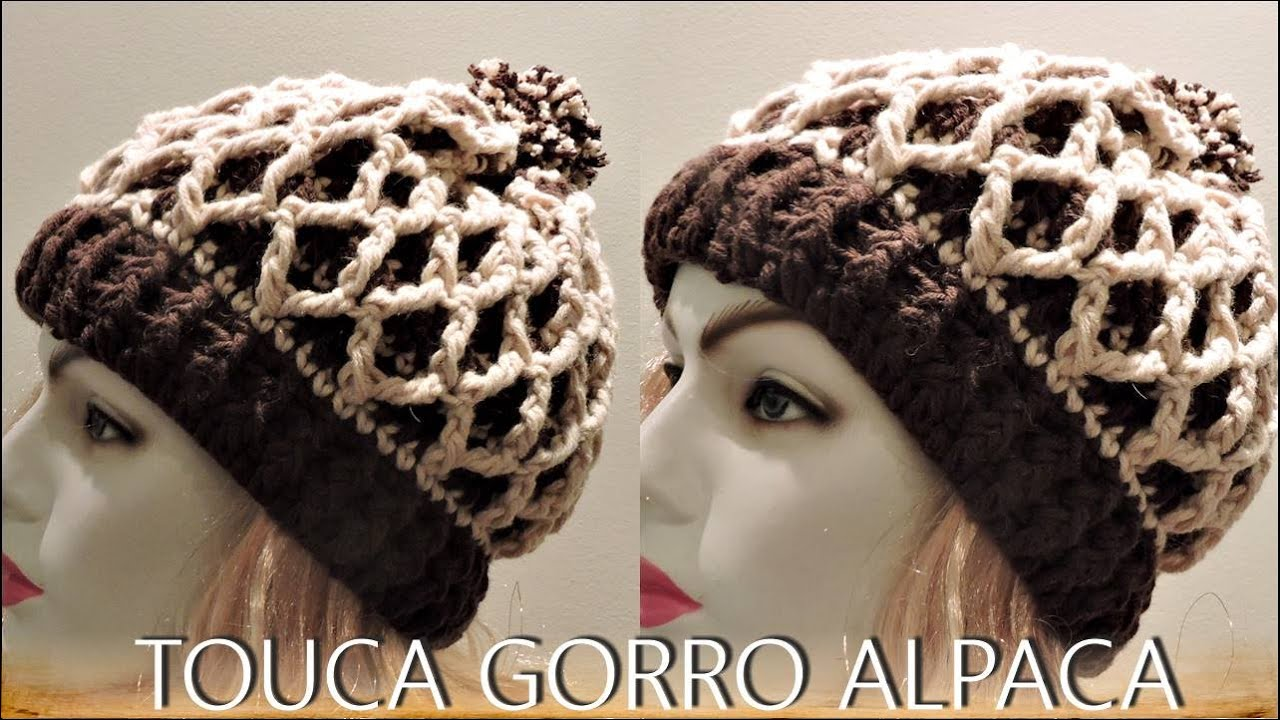 TOUCA GORRO ALPACA DIANE GONÇALVES - YouTube 40a8c436055