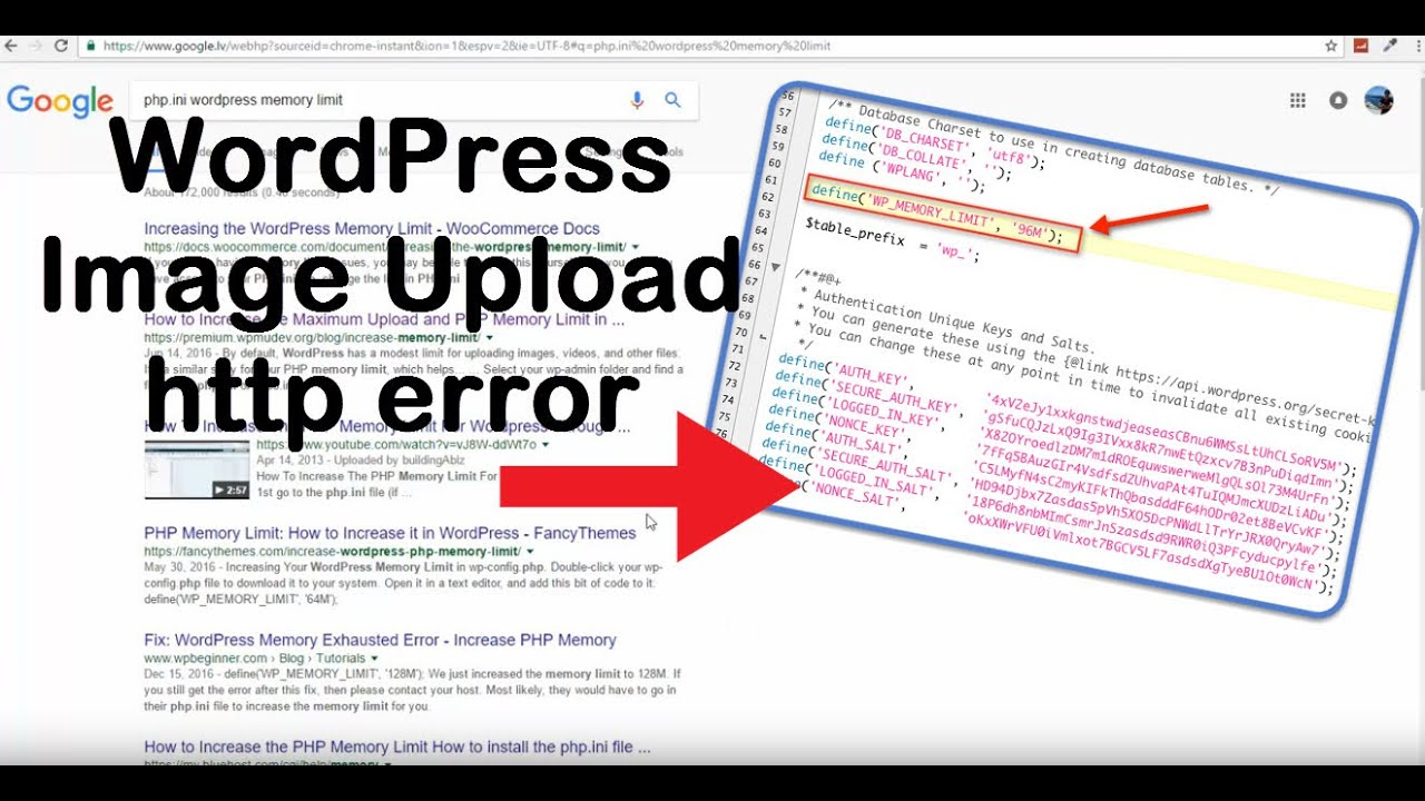 php ini wordpress memory limit and wordpress image upload http error