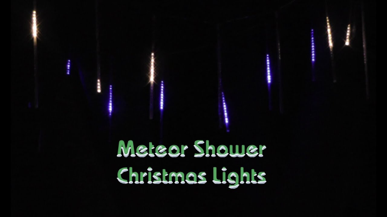 Installing Meteor Shower Christmas Lights Part TWO - YouTube