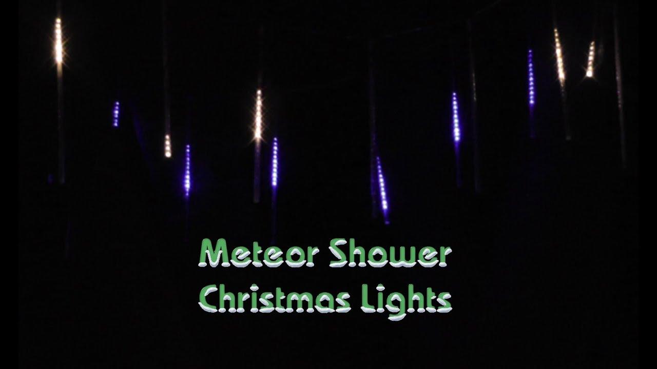 installing meteor shower christmas lights part two youtube - Meteor Christmas Lights
