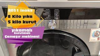 Yıkamalı Kurutmalı Arçelik Çamaşır Makinesi | 8051Ykı & 8051 yk Modeli | 8 Kilo Yıka
