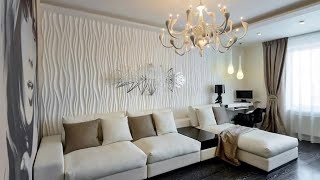 Living Room Interior - wall decoration over the sofa | living room wall decor