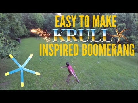 Easy To Make KRULL Inspired Boomerangs and Burnerangs!