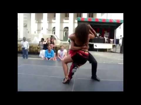Haitian couple dancing Kizomba to Haitian music Kompa!