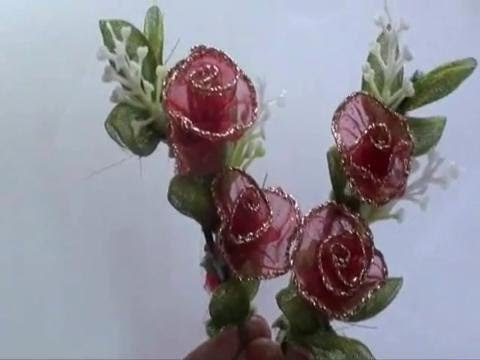How To Make A Artificial Rose Bouquet Youtube