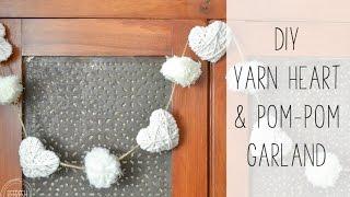 Farmhouse Inspired DIY Vallentine's Garland