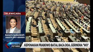 """Keponakan Prabowo Batal Baca Doa, Gerindra """"Walk Out"""""""
