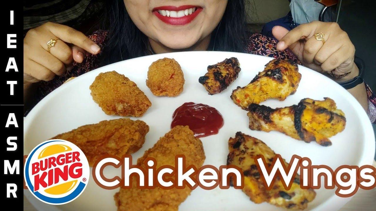 Asmr Chicken Wings Burger King Extreme Satisfying Eating Sounds No Talking Ieat Asmr