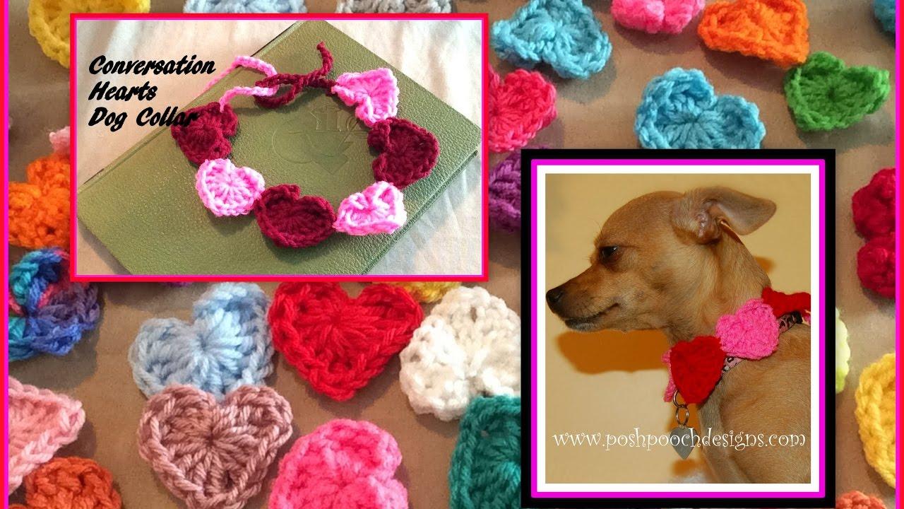 Conversation Hearts Dog Collar Crochet Pattern Youtube