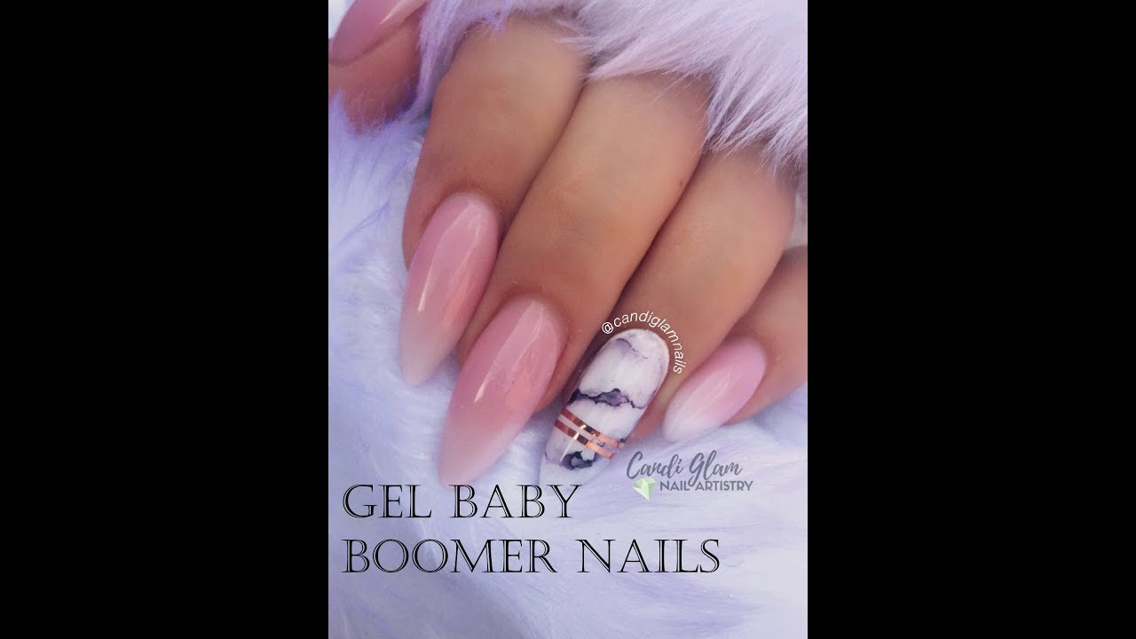Light Elegance Gel Baby Boomer French Ombre And Marble