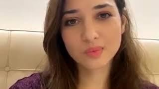 Tamanna Bhatia Live on Instagram:Tamanna Bhatia cute Smile