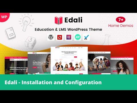 Edali WordPress Theme Installation And Configuration