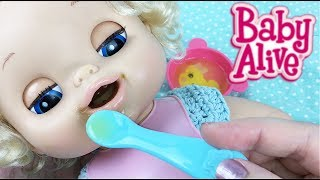 My Baby Alive Doll Aleasha Feeding and Diaper Change Morning Routine